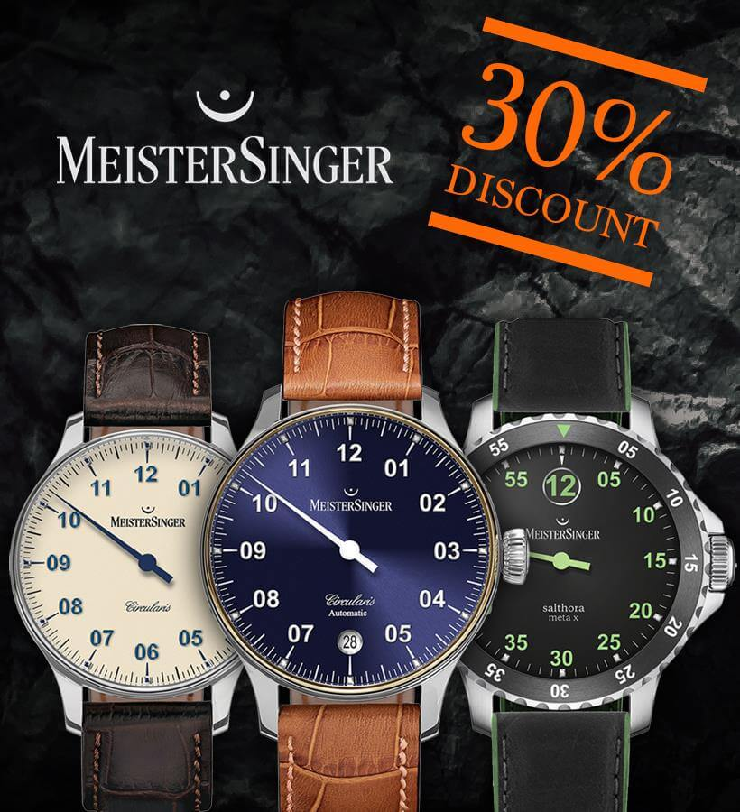 MeisterSinger watches with discount