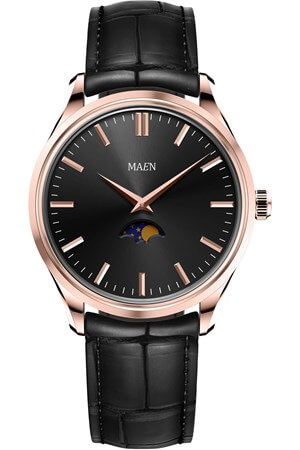 Maen Brooklyn 39 Moon Jet Black Rose Gold